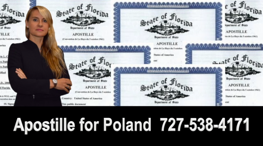"Agnieszka ""Aga"" Piasecka is a Polish speaking attorney in the State of Florida who can help you with the creation and or translation of legal documents in Polish, your notarial needs online (via internet) and with obtaining an Apostille Certification for Poland."