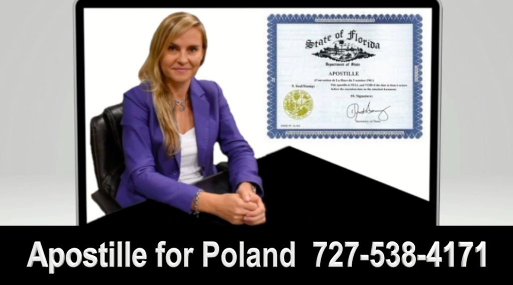 Disclaimer of Inheritance, Power of Attorney, Apostille for Poland, Polish, Attorney, Lawyer, Clearwater, Florida, US, USA, Agnieszka Piasecka, Aga Piasecka, Piasecka